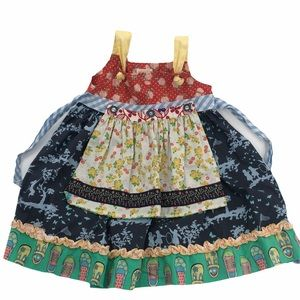 4 Matilda Jane Beautiful lovely Apron Knot Dress
